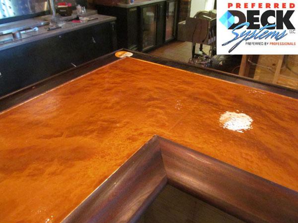 Metallic Epoxy Bar Countertop (in Copper)