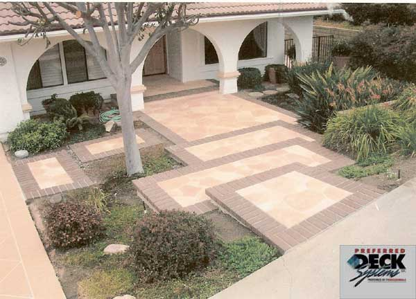 Flagstone with Brick Accents