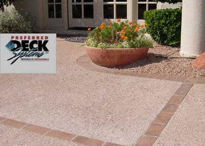 Granite with Brick Border